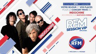 Ecoutez RFM et gagnez votre séjour et vos places pour le concert privé d'Indochine !