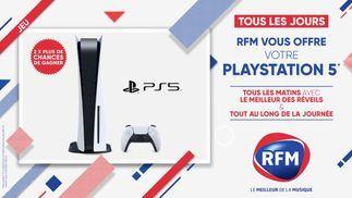 RFM vous offre votre PS5 2 fois par jour !