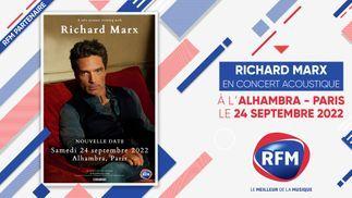 RFM partenaire du concert de Richard Marx le 24 septembre 2022 à l'Alhambra de Paris !